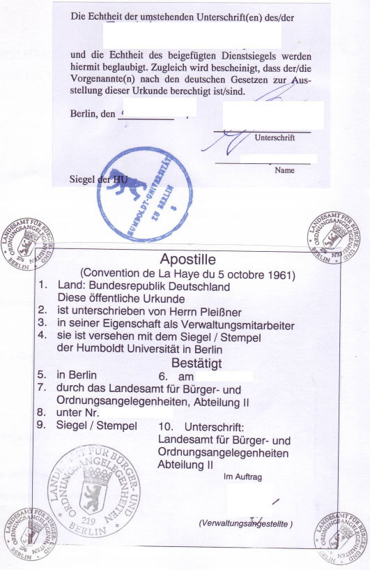 Apostille Stamp Germany Notarized Attestation Service