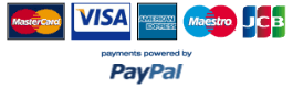 Secure payment by Worldpay or PayPal